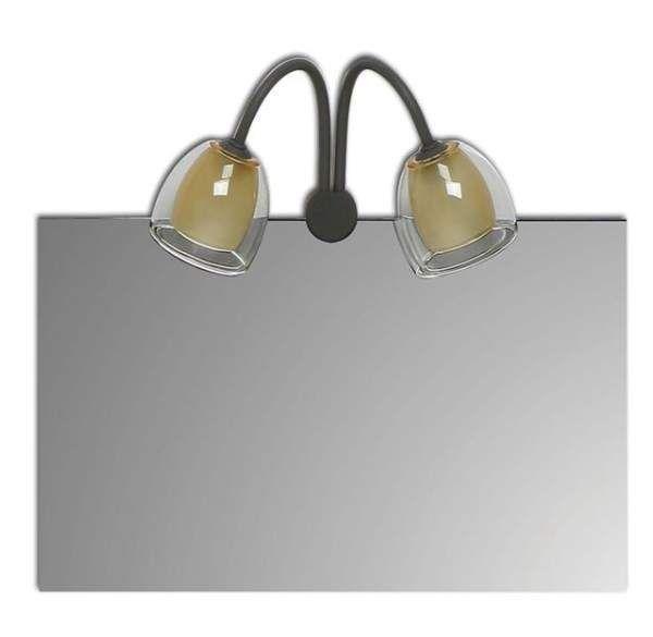 Daviu Baño 16-314F Aplique 2 luces para espejo forja marrón