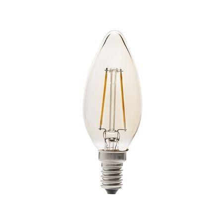 Faro Filamento 17427 Bombilla LED Vela Filamento Ambar 2W vintage